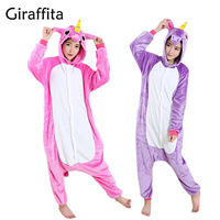 Cute Animal Pajamas Women Cosplay Animal Onesie Girls Blue Pink Purple Homewear Flannel Warm Loose Soft