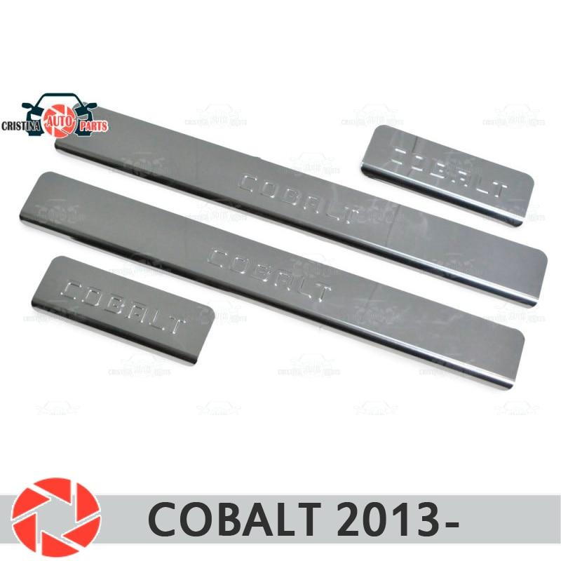 For Chevrolet Cobalt 2013- Door Sills Step Plate Panel Protectection Car Styling Decoration Interior Molding Door Stamp