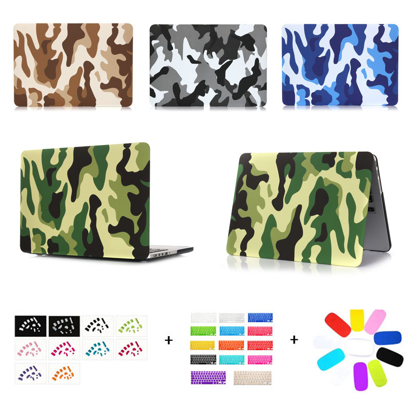Camouflage Pattern Hard Case For MacBook Air 13 Pro13 with/without Touch bar A1706 A1707 A1708 with keyboard cover dust plug