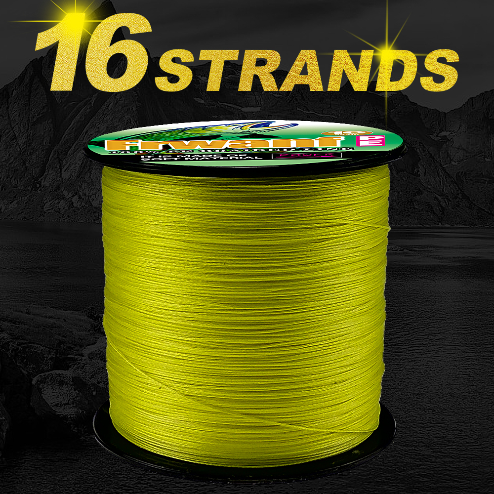 Frwanf 16 Strands Hollowcore PE Braided Fishing Line 16 Weave Strong Spearfishing Gun Rope 100M 109Yrd Deep Sea Fishing 6-300LB ...