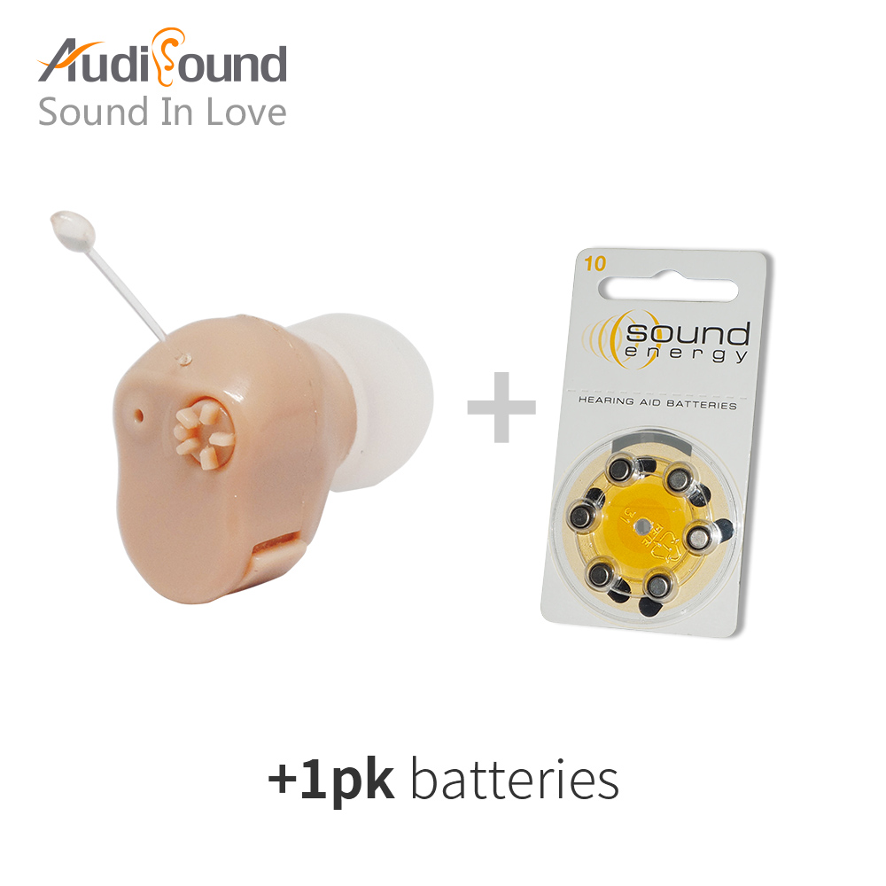 Audisound mini hearing aid ear sound amplifier hearing aids Tiny voice aid in the ear with 1 pk battery 2018 hearing aid mini sound amplifier volume controled ear care earphone hearing aids tinny deafness machine s 9a