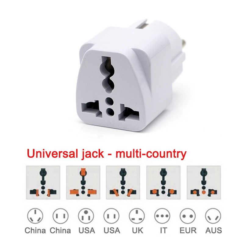 Europejska ue Adapter wtyczki japonia chiny amerykański uniwersalny wielkiej brytanii, usa, AU, aby ue AC zasilania podróży adaptery konwerter elektryczne ładowarka