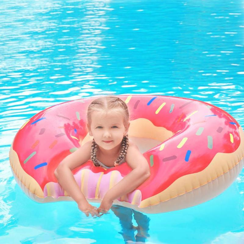 PVC Inflatable Donut Swimming Ring Giant Pool Float Toy Circle Beach Sea Party Inflatable Mattress Water Child Adults Life Buoy