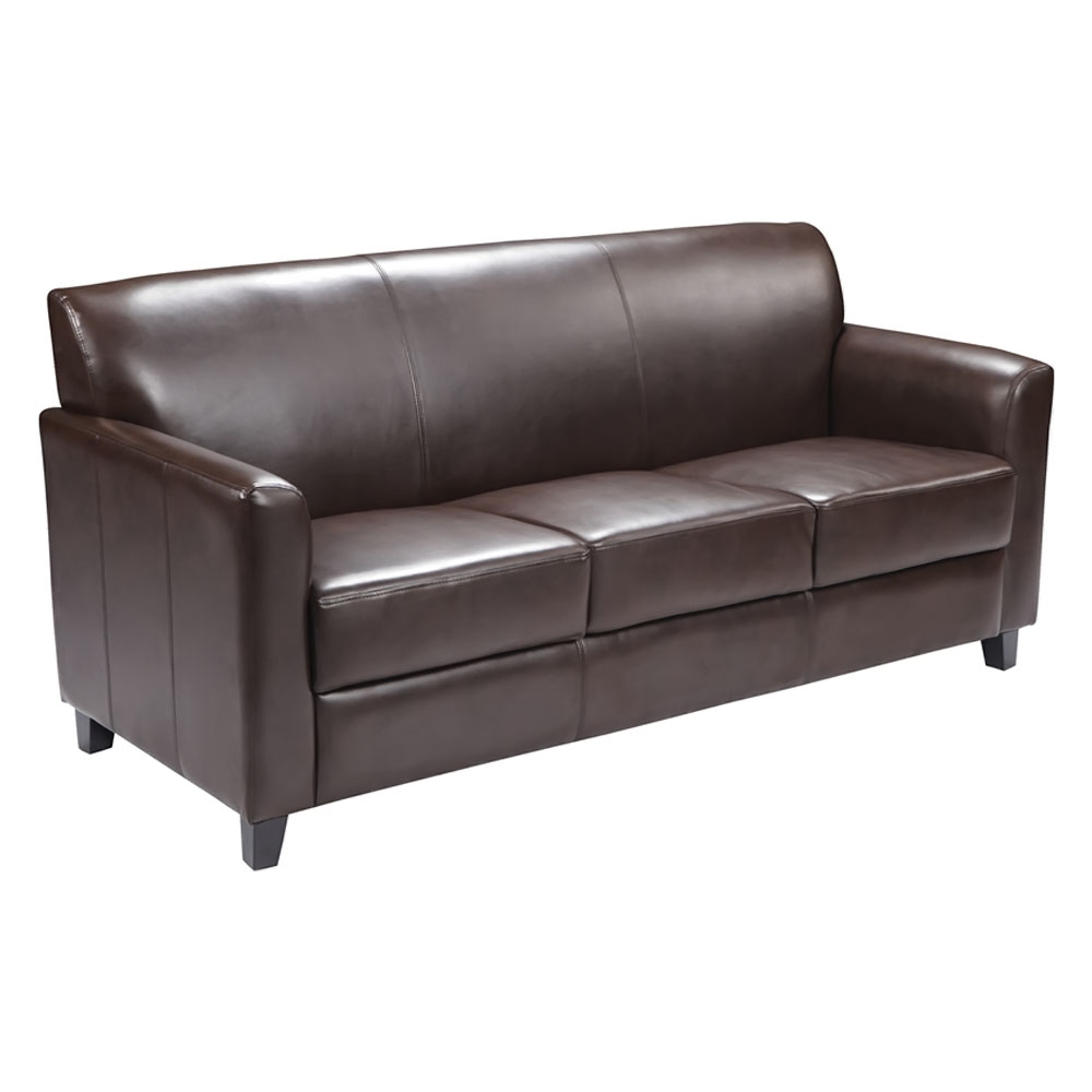 Flash Furniture HERCULES Diplomat Series Brown Leather Sofa [863-BT-827-3-BN-GG] diplomat ручка excellence b black lacquer перо diplomat d20000081