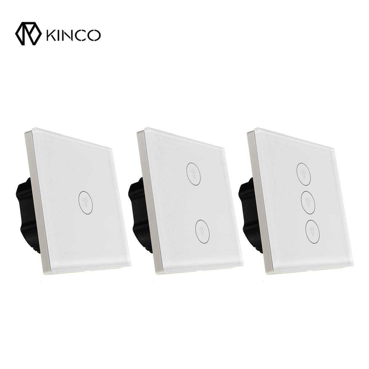 Kinco WIFI Smart Wall EU 1/2/3 Gang Switch Touch Panel Smart