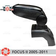 Подлокотник для Ford Focus II 2005-2011 автомобиля подлокотник центральной консоли кожа коробка для хранения пепельница аксессуары Тюнинг автомобилей