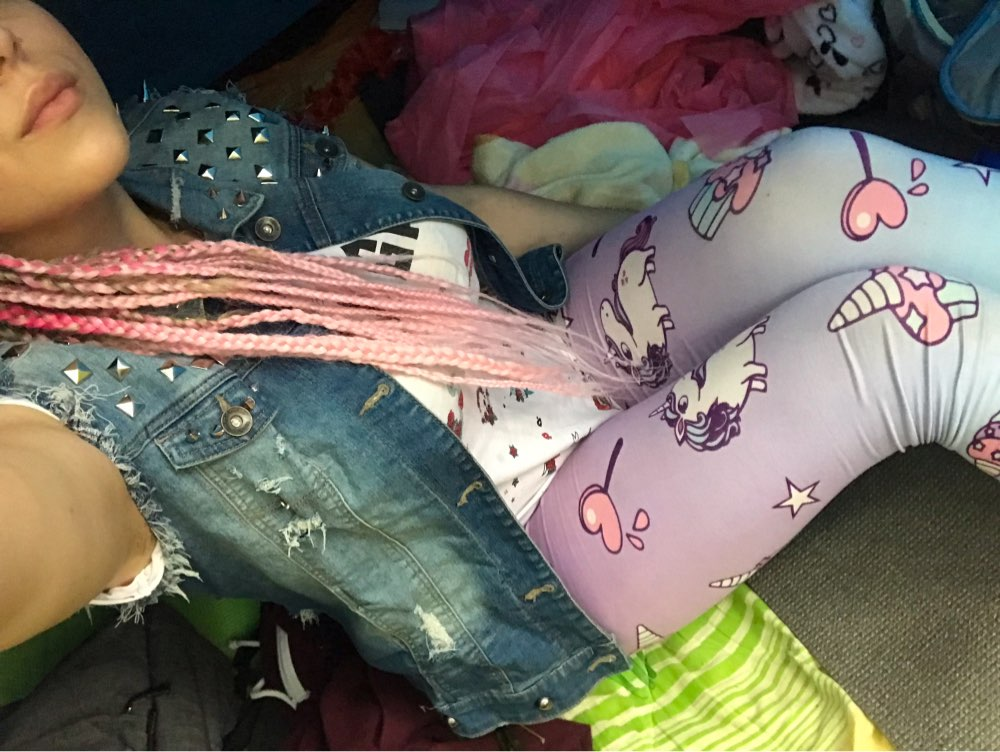 Unicorn And Sweets Printing Women Leggings Woman Pants photo review