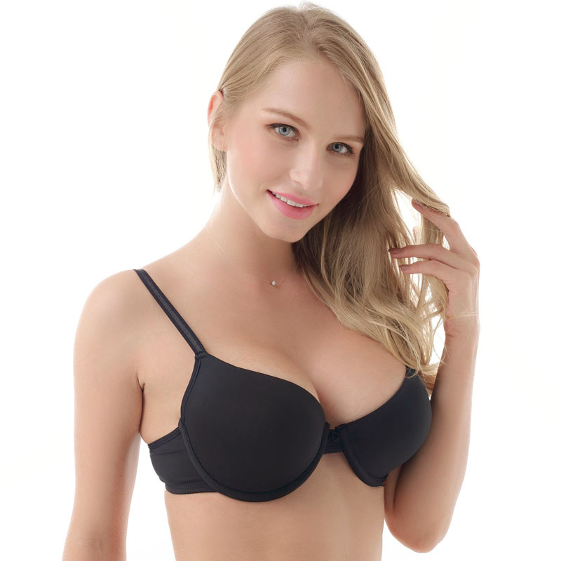 ad26c4ffc 7 Colors Solid Women Bra Push Up Underwire The Cups Unlined Bras Girl s  Underwear Back Closure Have Size 32 34 36 38 B C D 2118