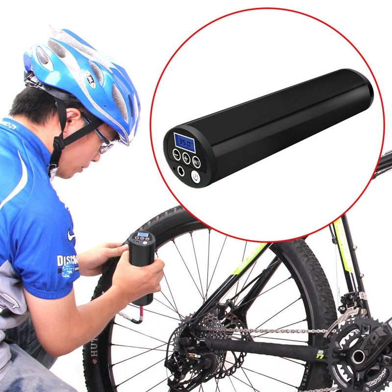 цена на New Arrival LCD 150PSI 12V Portable Electri Tire Inflator Air Compressor Auto Car Bike Inflator Bicycle Pump Accessories