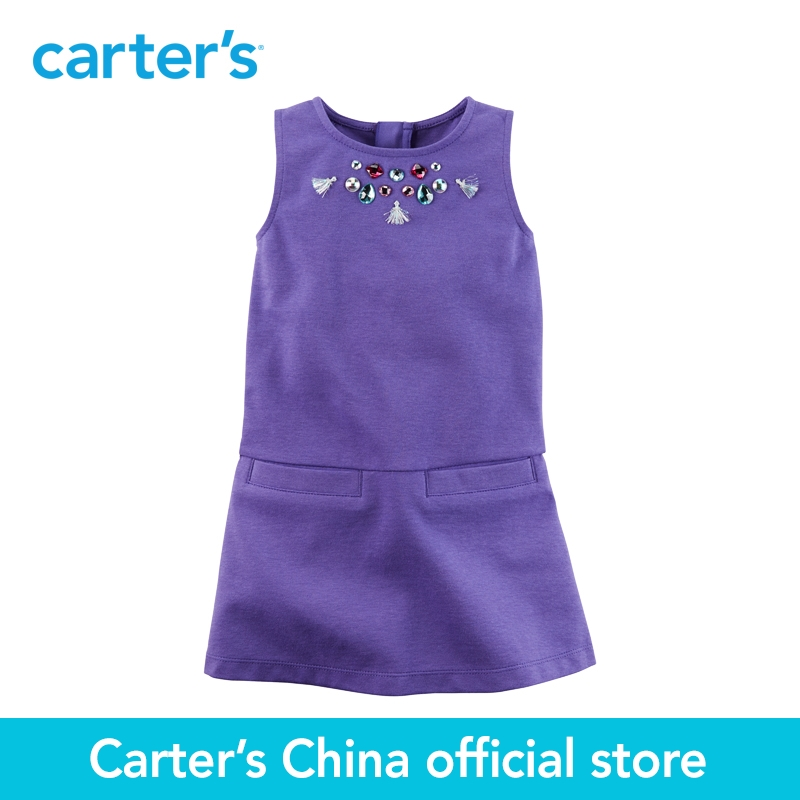 Carter's 1pcs baby children kids Embellished Ponte Shift Dress 271G195,sold by Carter's China official store