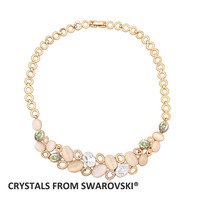 2016 Hot Sale 4 colors charming opal chokers necklace With Crystals from SWAROVSKI for Valentine's Day gift