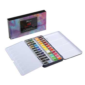 MEEDEN Art Watercolor Tin Palette Paint Set with 48 Colors Half Pan Paints Portable Watercolor Paint Set for Field Sketch - DISCOUNT ITEM  15% OFF All Category