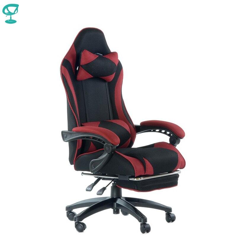 95267 Barneo K-40 noir rouge chaise de jeu ordinateur chaise maille tissu haut dossier en plastique accoudoirs livraison gratuite en russie