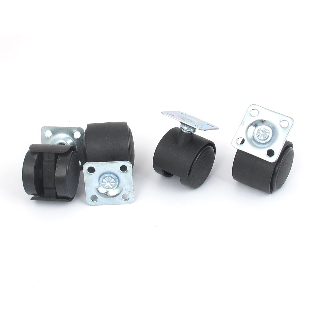 UXCELL 1.2 Dia Plastic Wheel Metal Top Plate Swivel Ball Bearing Casters 4 Pcs uxcell 4 pcs white 1 25 single wheel light duty swivel plate plastic caster