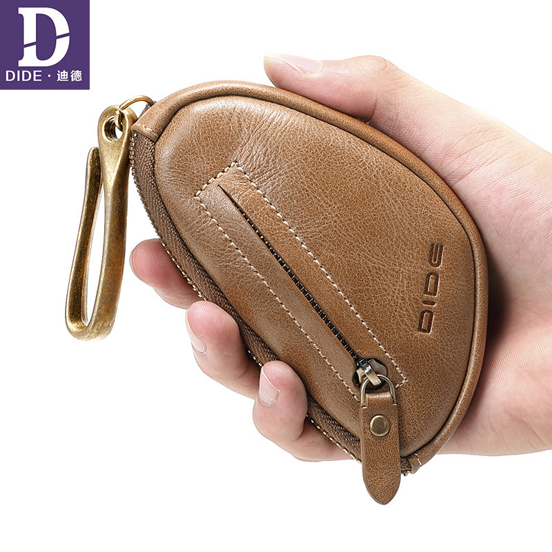 DIDE Brand Key Wallet Mini Coin Wallet Genuine Leather 2018 housekeeper for keys purse keychain Car