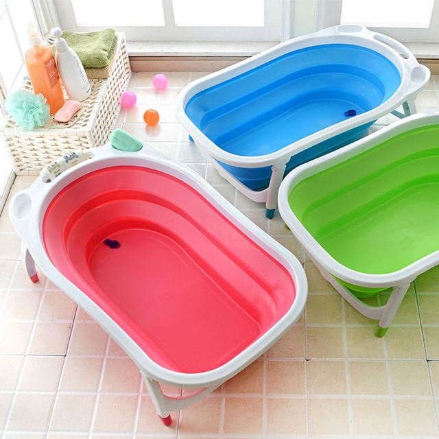 Foldable Baby Infant Newborn Bath Tub Safety Bathing Bathtub Baby ...