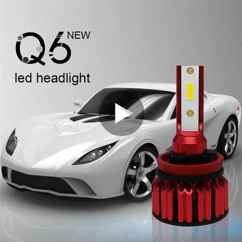 2pcs Car LED Headlight Kit H11 9006 9005 H4 H7 72W 8000LM 6000K High Brightness DOB IP68 Bulbs Lamp Car Accessories
