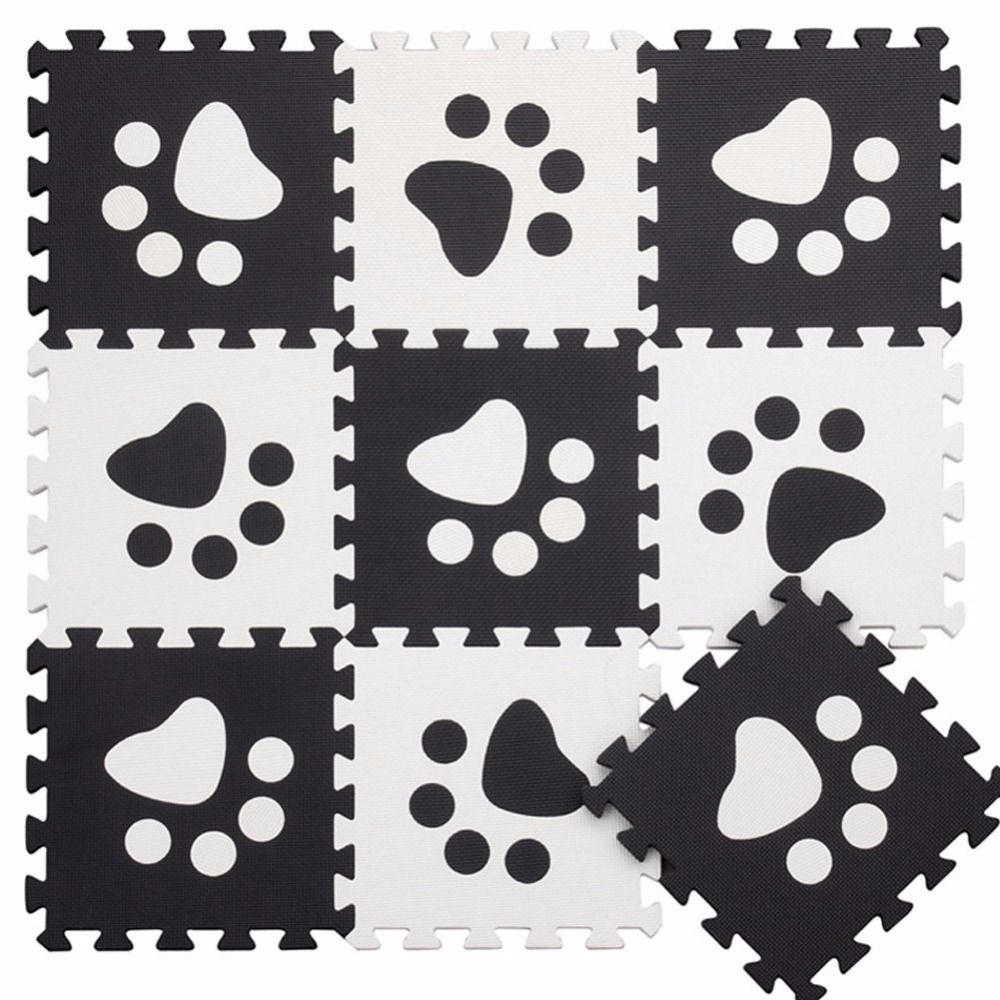 10pcs/set Baby EVA Foam Puzzle Play Mat Interlocked Crawl Tiles Carpet Each 30x30x1cm Pop-out Paws Toys for Unisex Playpen Mats