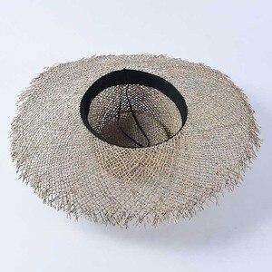 Image 5 - Chapéus de palha unissex chapéu de palha para kentucky derby viagem chapéu de praia de verão chapéu de praia