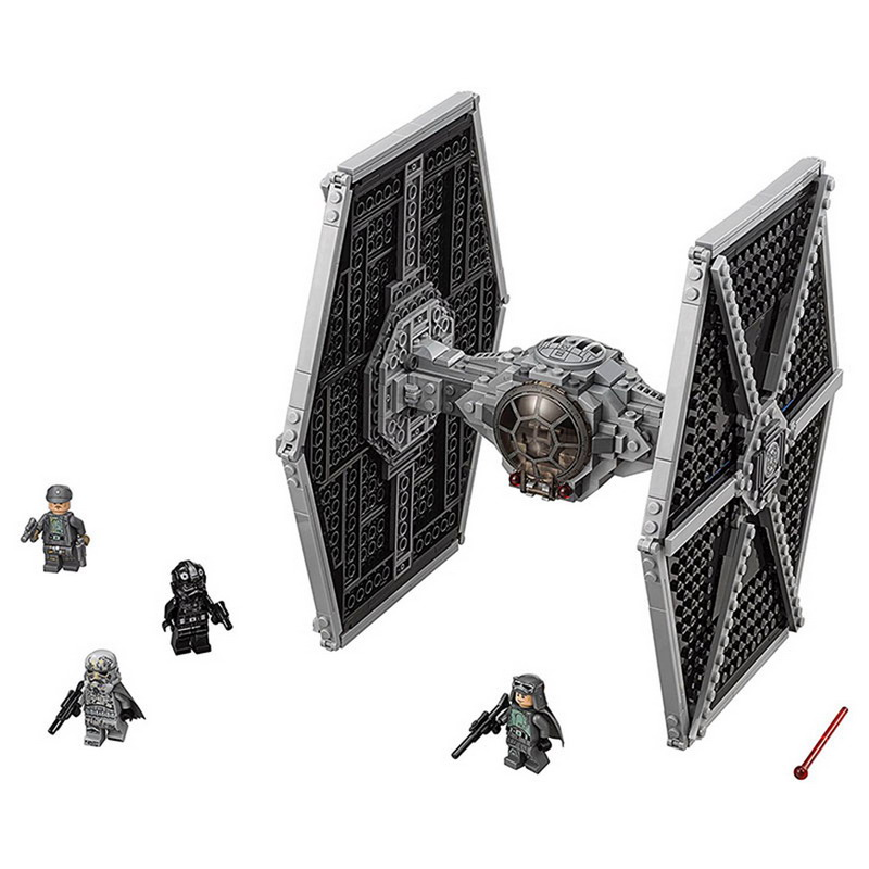 BELA 10900 Star Series Wars Imperial TIE Fighter Model Figure Blocks Compatible Legoe Construction Building Toys For Children new 1685pcs lepin 05036 1685pcs star series tie building fighter educational blocks bricks toys compatible with 75095 wars