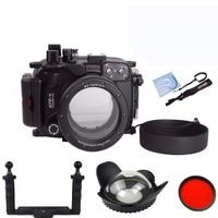 Meikon 40M/130F waterproof camera case for Canon G7XII G7X Mark II