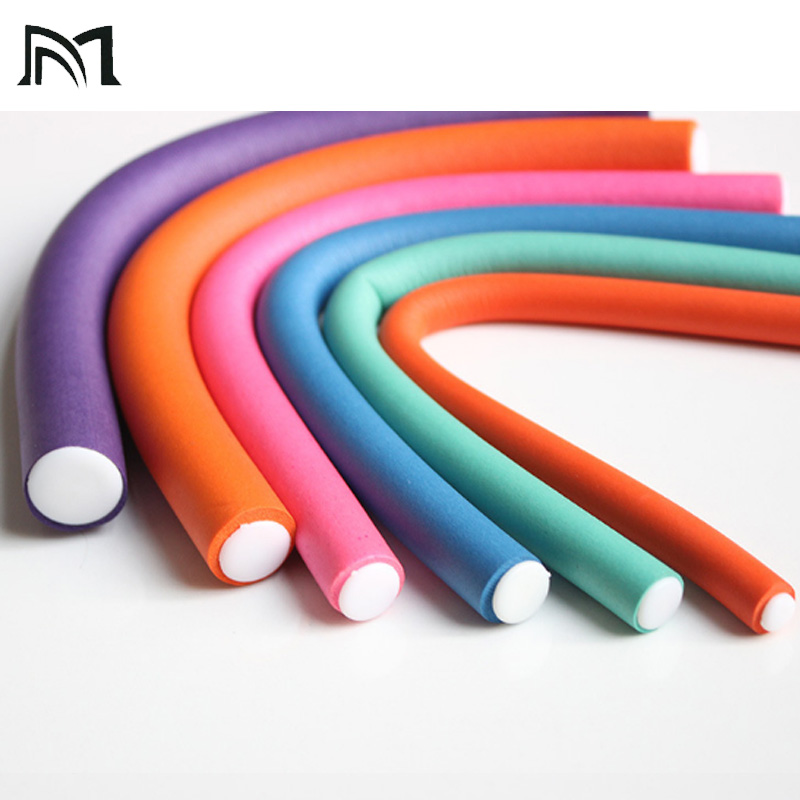 0 8 2 0 cm Size 10 pcs Bag Rubber Magic Hair Curling Tool Non Damaged Hair Curl Perm Tool Go Party Wave Hair Style Assistant in Hair Rollers from Beauty Health