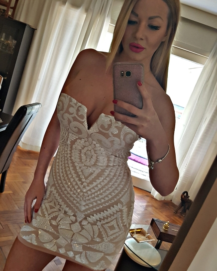 'No Time Waster' White Lace Dress photo review