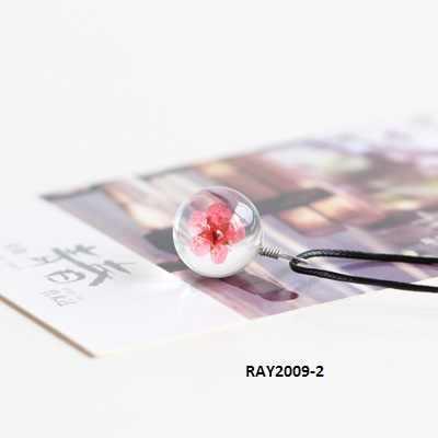 Handmade Bunga Kering kalung Jewlery Pendant Kalung untuk Wanita