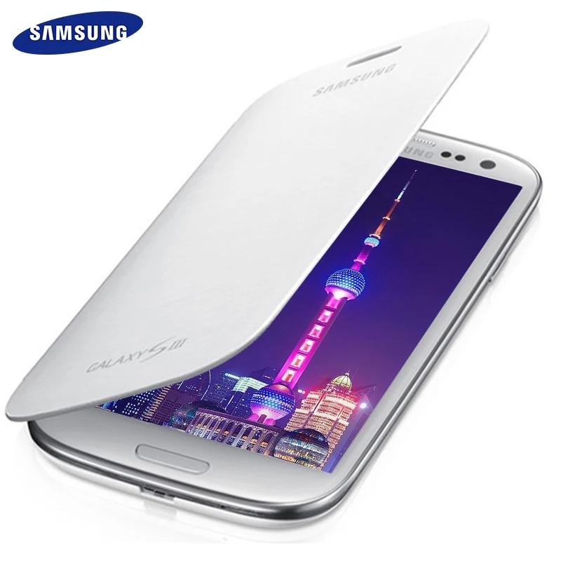 Coque de téléphone Samsung Galaxy S3, étui à rabat, 100% Original, SIII S3 i9300, Anti-coup, capteur d'empreintes digitales