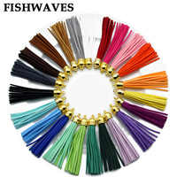 FISHWAVES 10pcs Colorful Silk Tassels Fringe Diy Key Chain Earrings Charm Leather Tassel Large CCB New Fashion Accessories 86mm