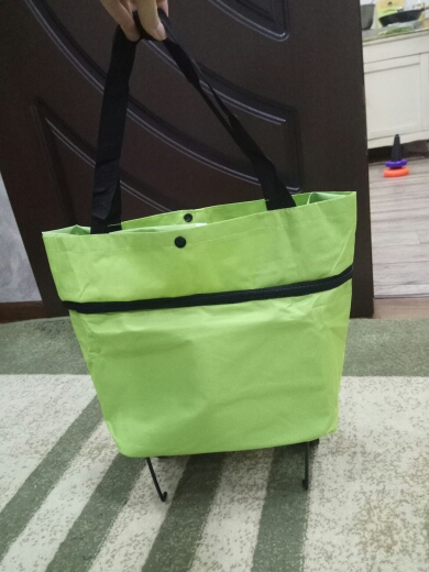 Do Not Miss Folding Portable Shopping Bags High Capacity Shopping Food Organizer Trolley Bag on Wheels Bag Buy Vegetables Bag photo review