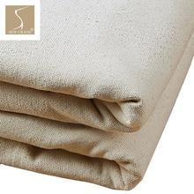 150 см в ширину тяжеловесный негрунтованный натуральный белый серый камень хлопок утка холст ткань по метру