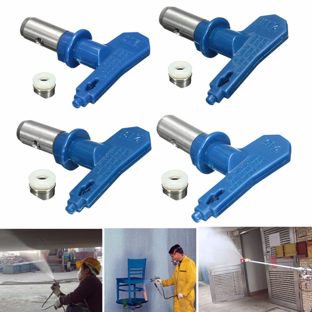 Blue 2 Series Airless Spray Tips Spray Nozzle Airless Spraying Machine Accessories For Home Graden Power Tools