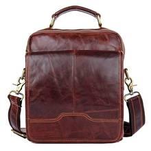 Messenger Bag Men 2018Travel Brown Business Ipad Mobile Vintage Fashion Cow Leather Shoulder Crossbody Small Handbag Bags