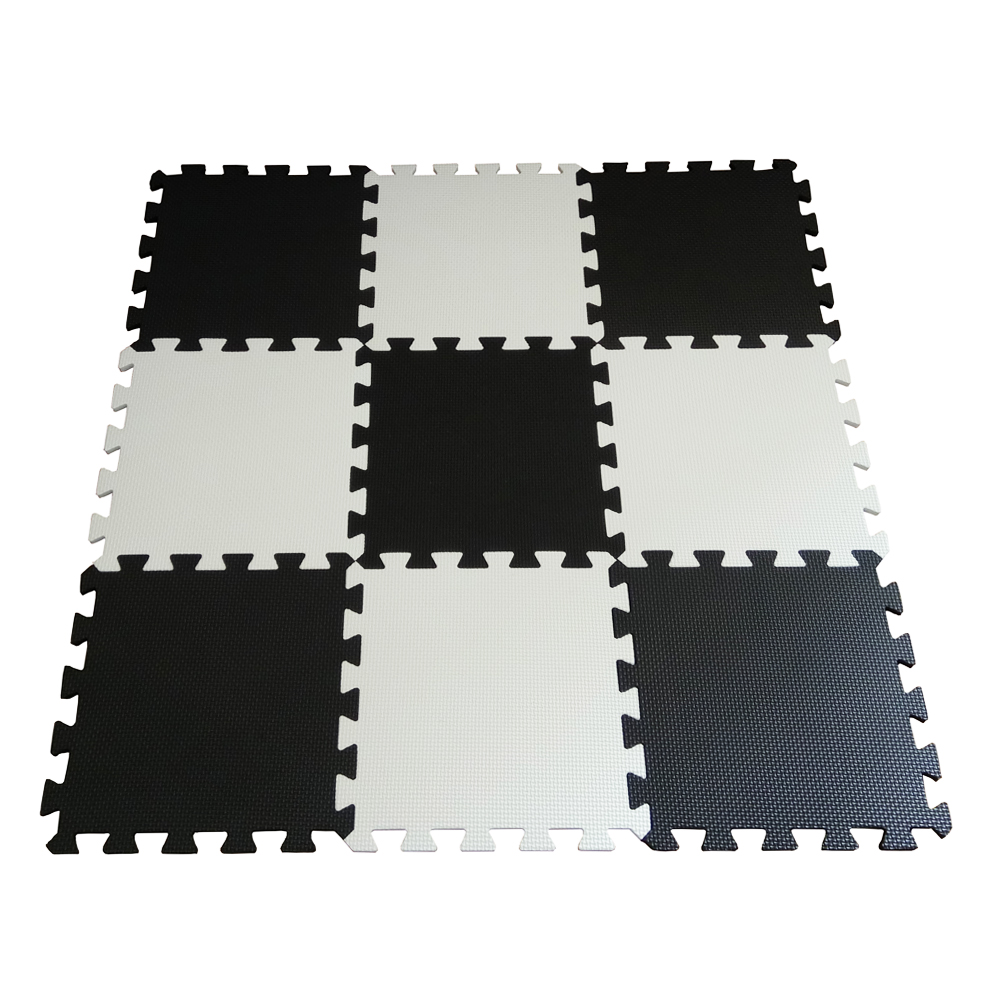 Us 15 49 50 Off Neeu 9pcs Soft Eva Foam Baby Children Kids Play Mat Black White Color Puzzle Mats Floor Jigsaw 31 5 X 1cm For Uni In