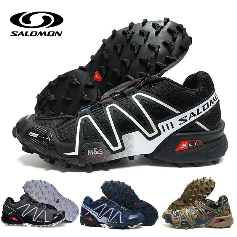 Salomon Speed Cross 3 CS III Shoes Men zapatos hombre Camo Black Red Running Shoes Cushion Atheltic Sport Shoes eur 40-46 ботинки salomon ботинки shoes shelter spikes cs wp black bk ptr