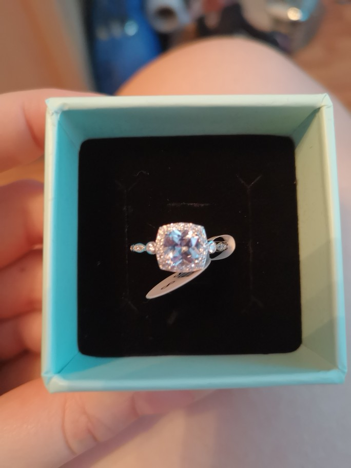 Sky Blue Aquamarine Topaz Ring photo review