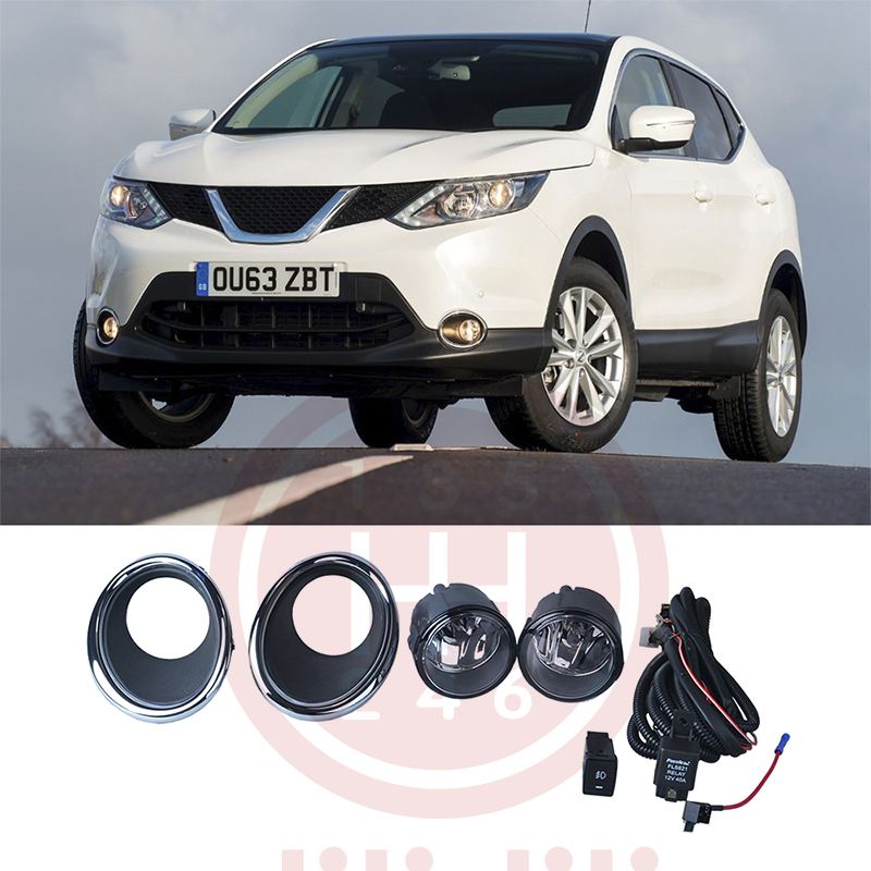 Fog Light Lamps Kit for Nissan QASHQAI 2 qashqai VISIA J11 2013- fog light lamps kit for nissan bluebird sylphy sentra 2013 2015