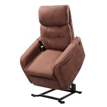 Armchair Levantapersonas Moscow. Respaldo Recliner and Footrest Extendable with I Send Chocolate Brown.