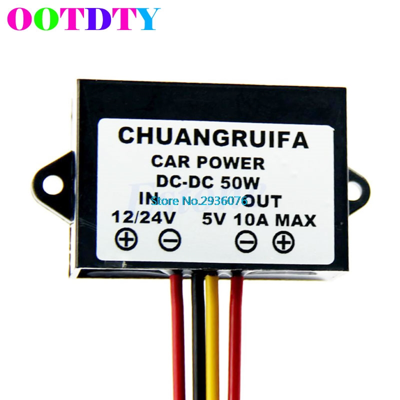 Waterproof DC 12/24V to 5V 10A 50W Buck Step-Down Converter Module Car Power APR14_35 туфли rossa туфли на каблуке