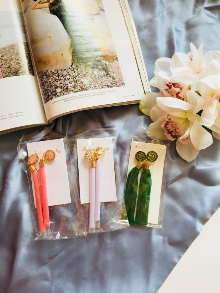 19 Color Long Crystal Tassel Earrings photo review