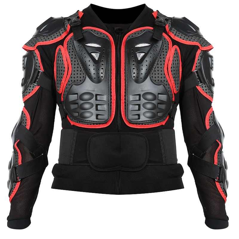 Motorcycle Jacket Full Body Armor for Men Spine Chest Protection Gear Smart Red Edge Deluxe Edition Motorcycle Armor S-XXXL