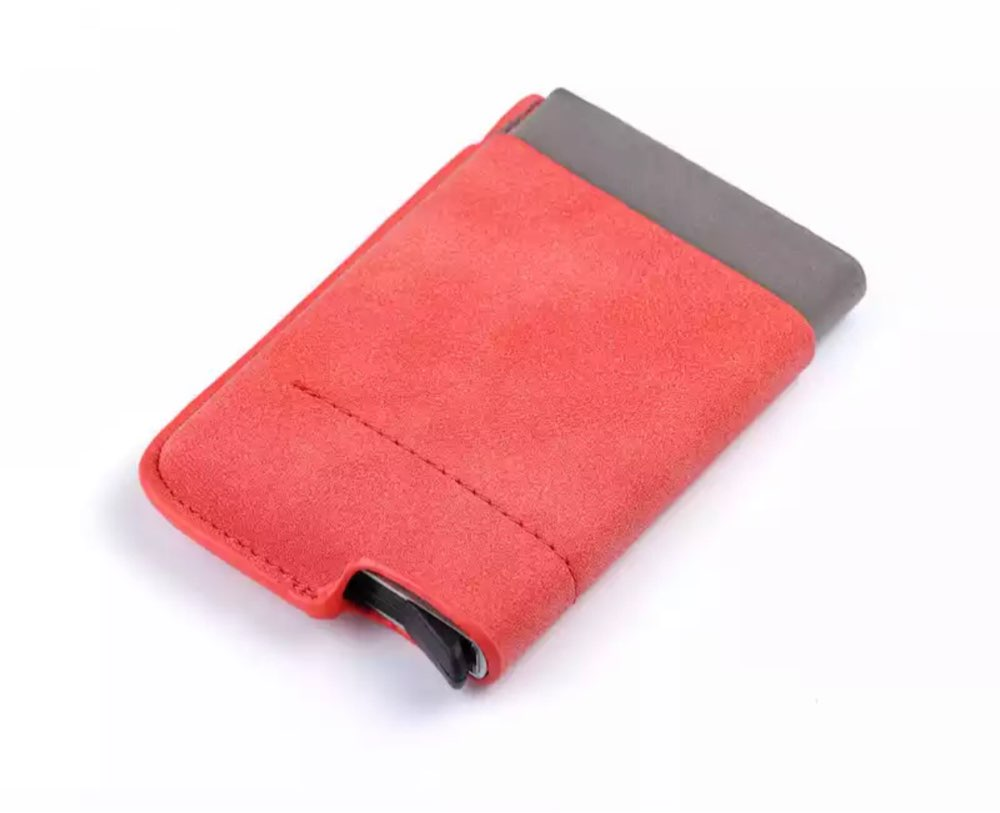 BISI GORO 2019 Men And Women Business Credit Card Holder Wallets Pocket Case RFID 6 Cards Pop Up Card Case Card Wallet photo review