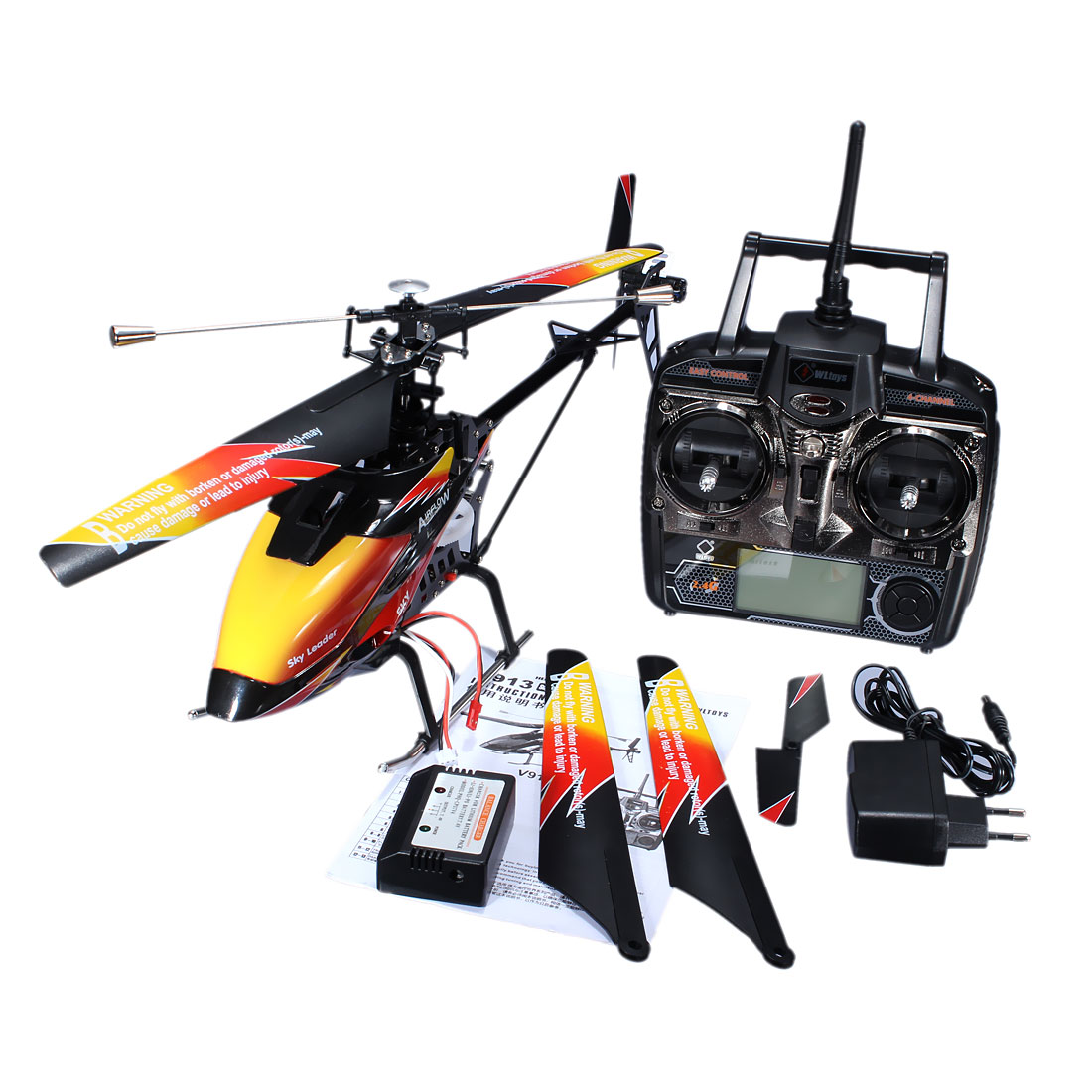 High Quality WLtoys V913 Brushless Version 2.4G 4CH RC Helicopter RTF v913 spare part kits canopies main blades main blades for wltoys v913 rc helicopter free shipping