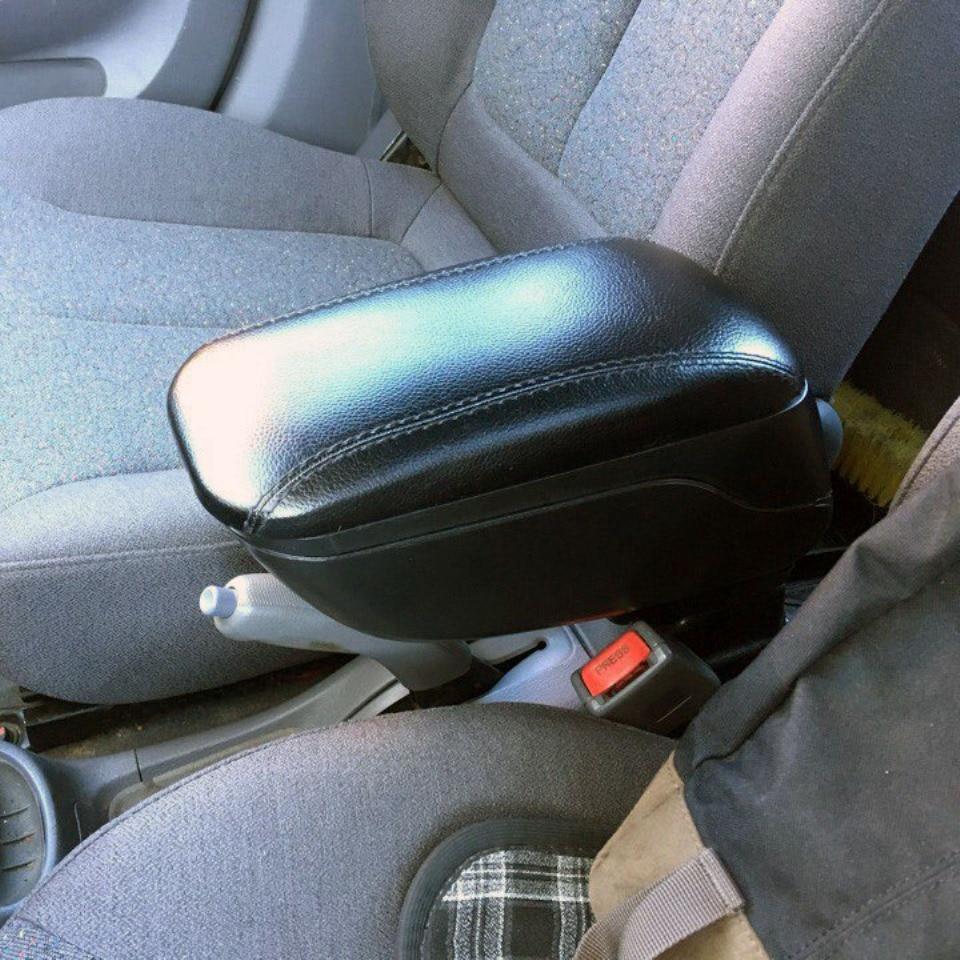 Para Hyundai acento Tagaz coche apoyabrazos con interior de boxeo color negro PHAC9
