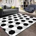 Серый, черный, белые коробки, кубики, геометрический 3d принт, нескользящая микрофибра, гостиная, декоративный современный моющийся коврик, к...