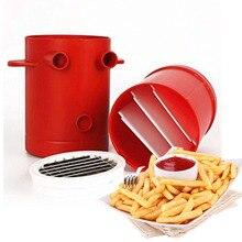 Медь картофель фри картофель Maker для нарезки картофеля-фри Maker для МиГ картофель фри резак машина& упаковка алюминиевой фольги 2-в-1 без фритюр