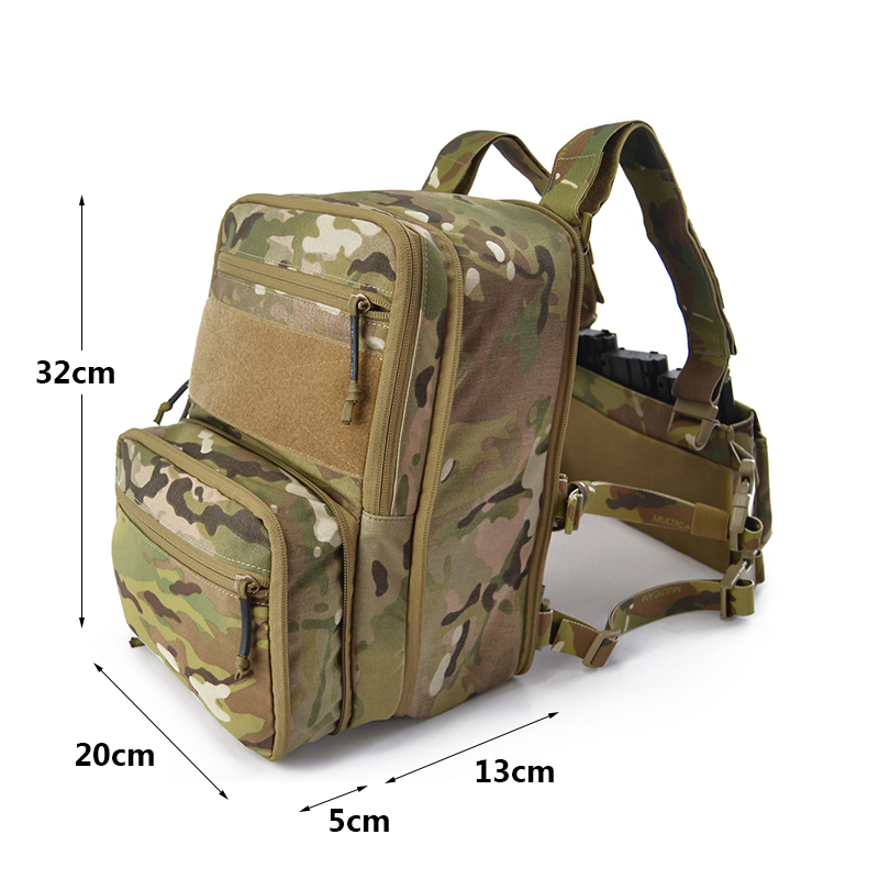 8L Haley Flatpack Hydration Pack Tactical Water Backpack Army Molle Compress Bug Out Bag Outdoor Rucksack