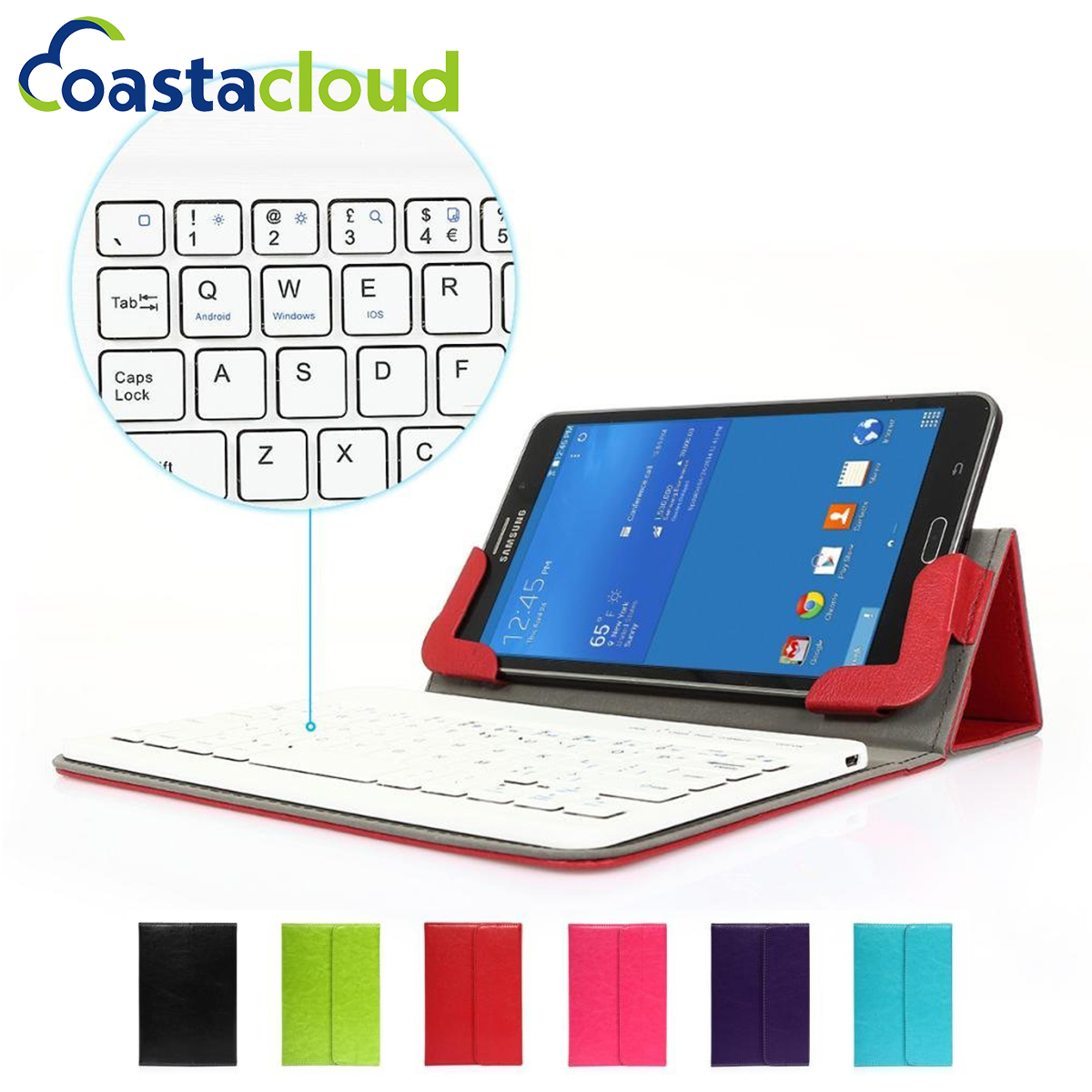 7 inch Universal Tablet Cases For PU Leather Stand Case Cover With Detachable Bluetooth Keyboard IOS/Android/Windows universal 7 7 9 8 inch android windows ios tablet pc detachable bluetooth keyboard with touchpad pu leather case cover stand pen