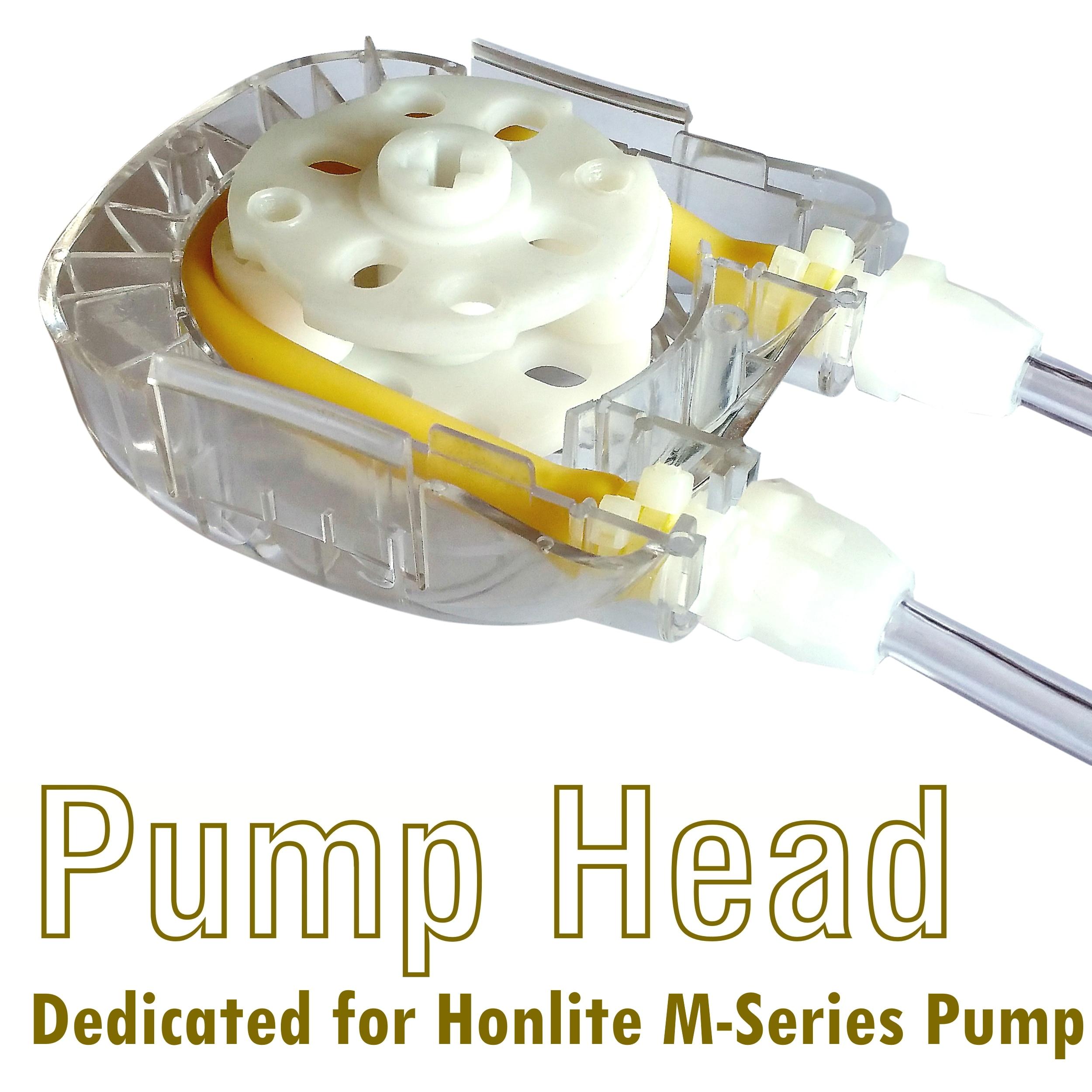 1500ml/min, 3 Rollers, Honlite M-Series Peristaltic Pump Head Assembly